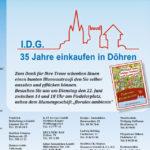 Anzeige Blumenwiese: 35 Jahre einkaufen in Döhren